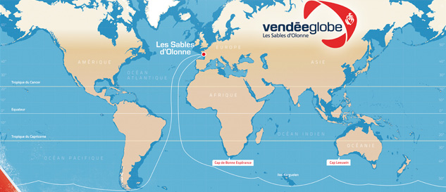 Iridium laps Antarctica in the Vendée Globe's 2012/2013 record-breaking race