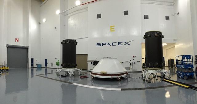 First Falcon 9 Iridium NEXT Satellite Dispenser Arrives at Launch Site