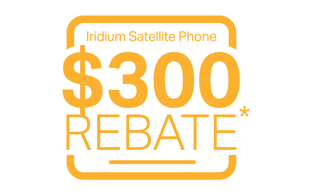 Three reasons to participate in Iridium's Disaster Preparedness Rebate Program