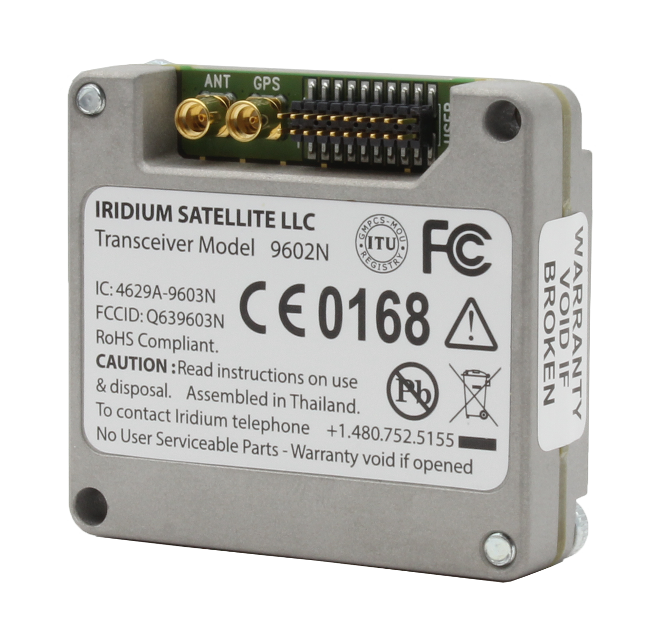 Iridium 9602 embedded transceiver