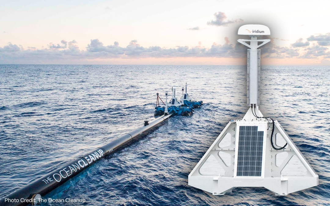 Iridium Helps The Ocean Cleanup Rid the World's Oceans of Plastic