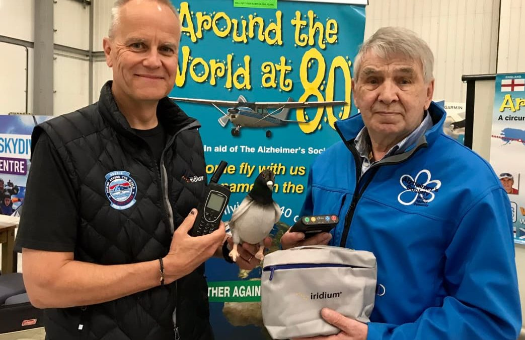 Dan Mercer, Regional VP EMEA/R, visited with Jim & Dot who are taking Iridium on their journey around the world in aid of The Alzheimer's Society.