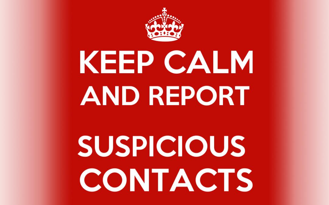 Security Tip: Suspicious Contacts