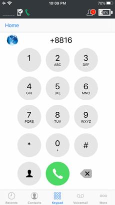 Iridium GO! App Keypad Dialer