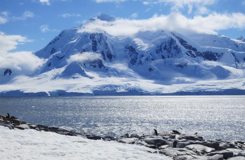Antarctica Blue Sky