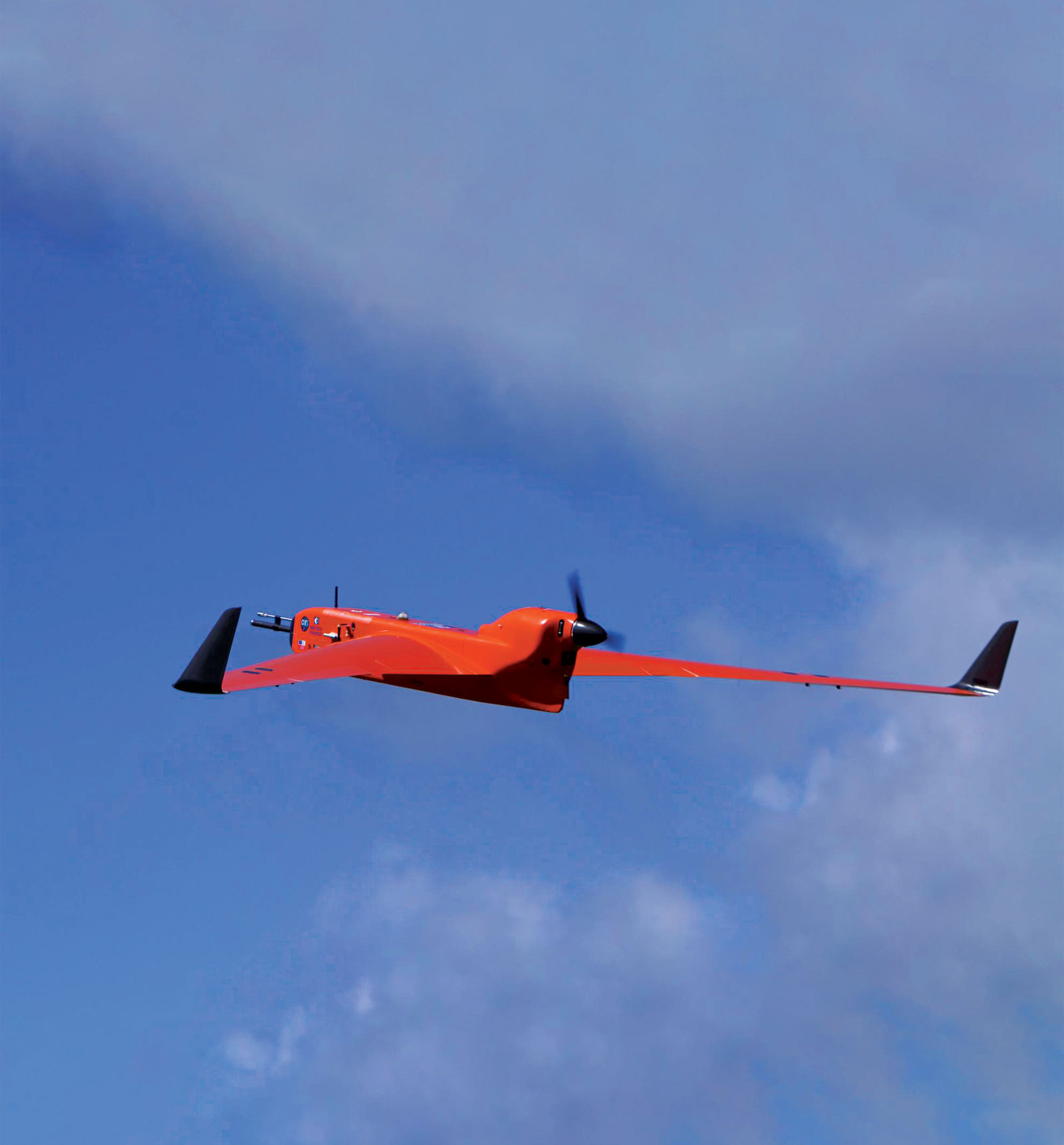 Action image of drone in sky