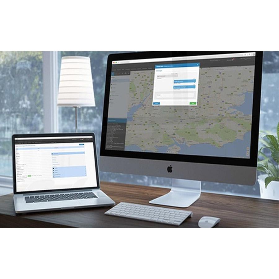 Laptop and Desktop with IRIS app on screen