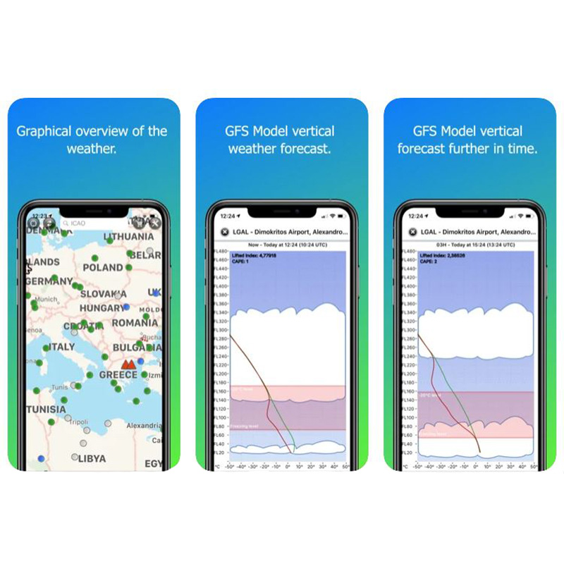 Screenshots from Aviation Weather App