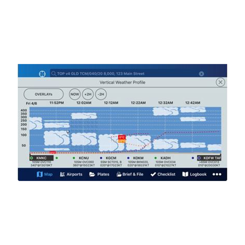 In app image of Aerovie Electronic Flight Bag application