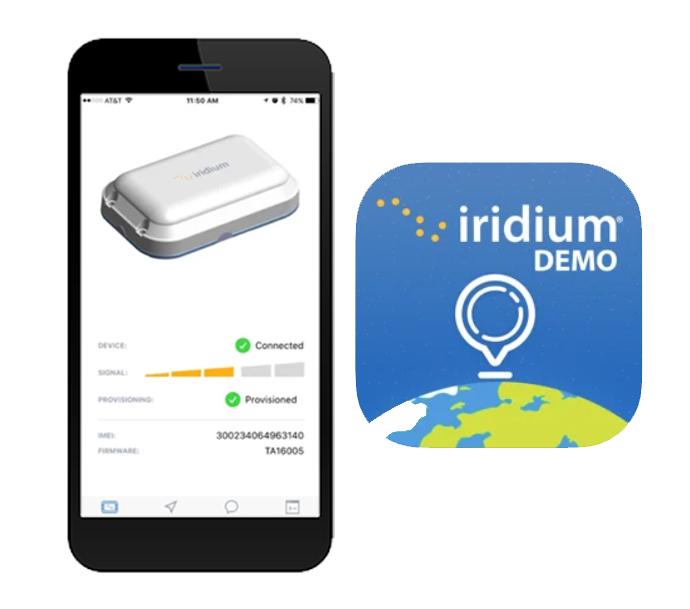 Iridium Edge demo kit companion app