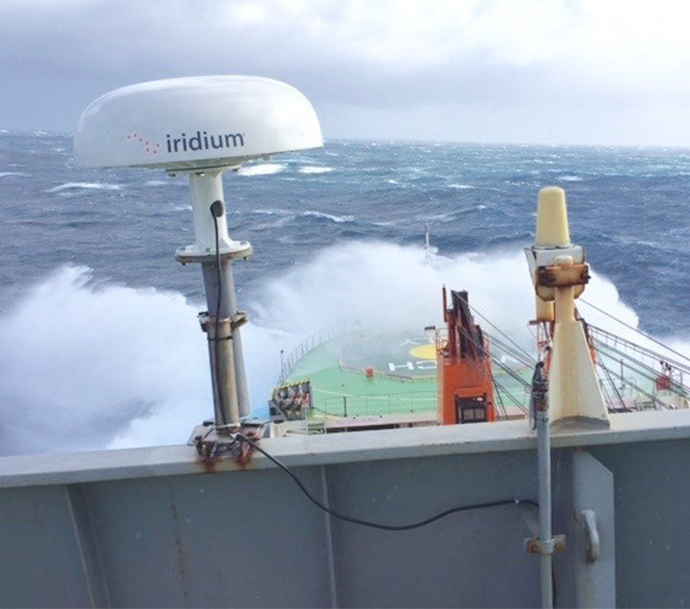 Iridium Pilot installed on a ship