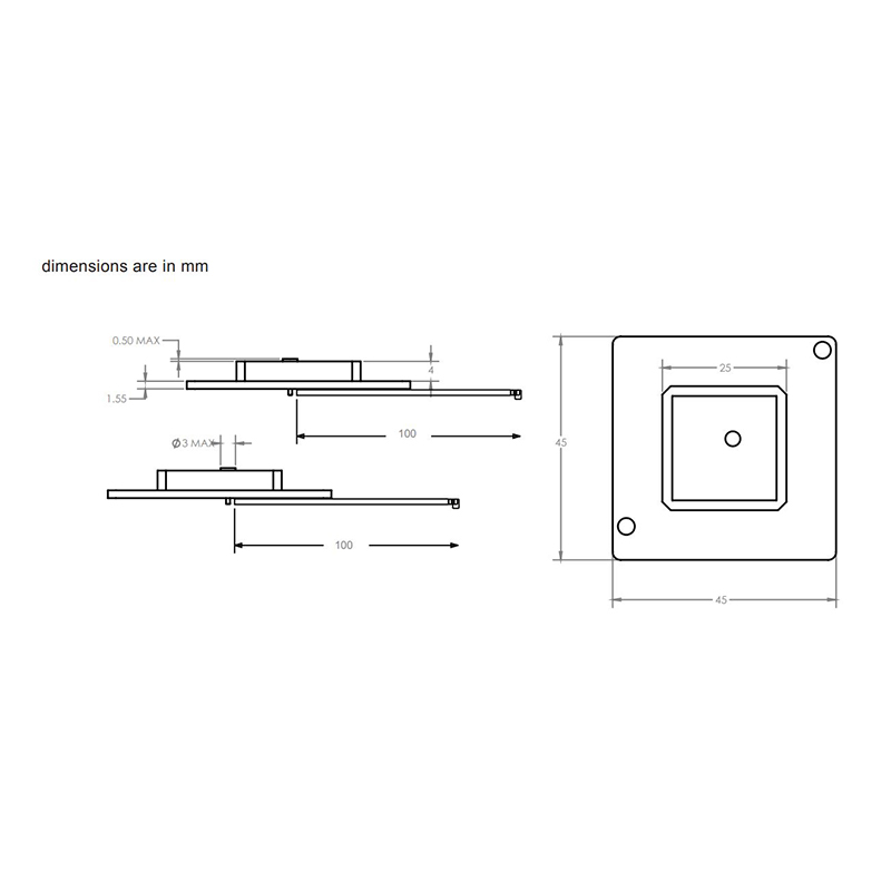Diagram of Maxtena D254-1621 Antenna