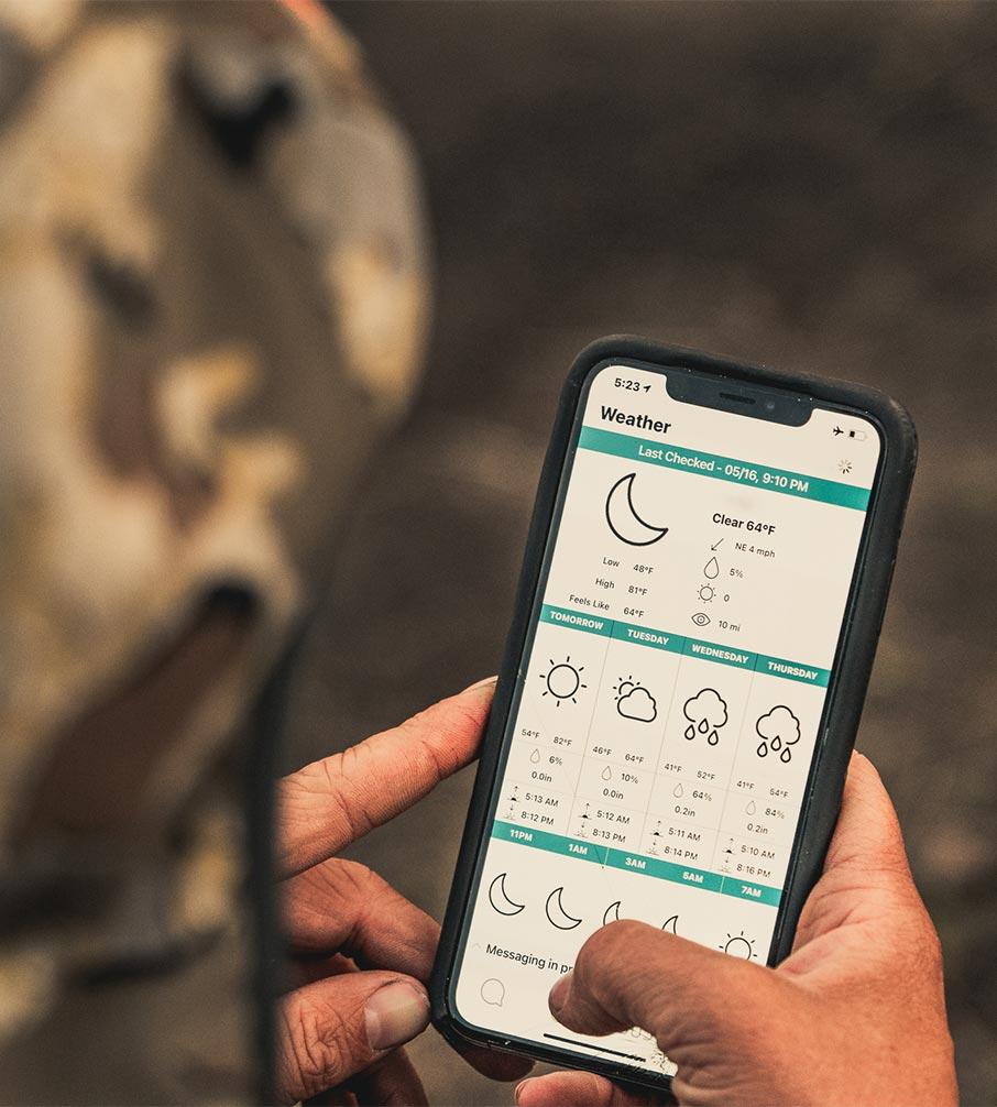 zoleo mobile app weather forecasts