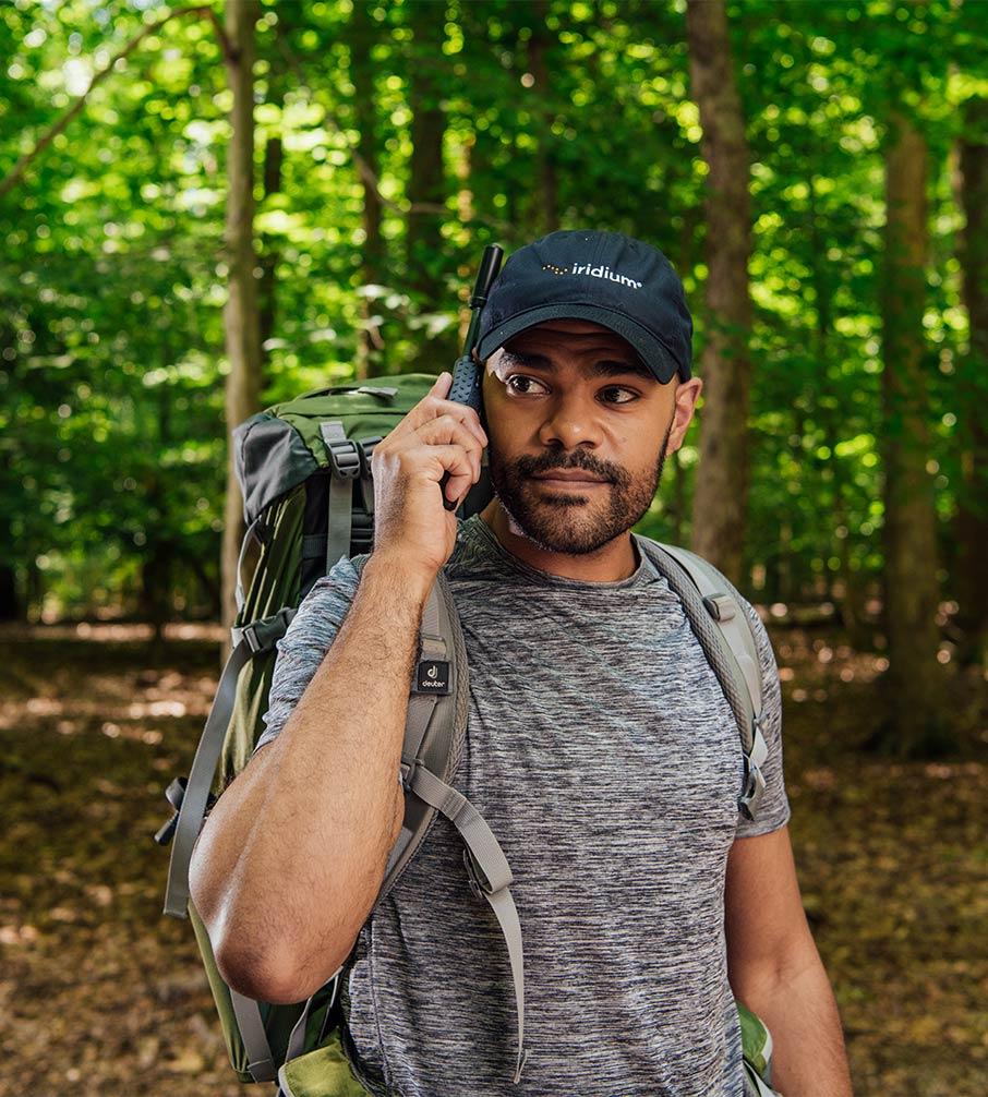Man makes voice call from remote location using Iridium
