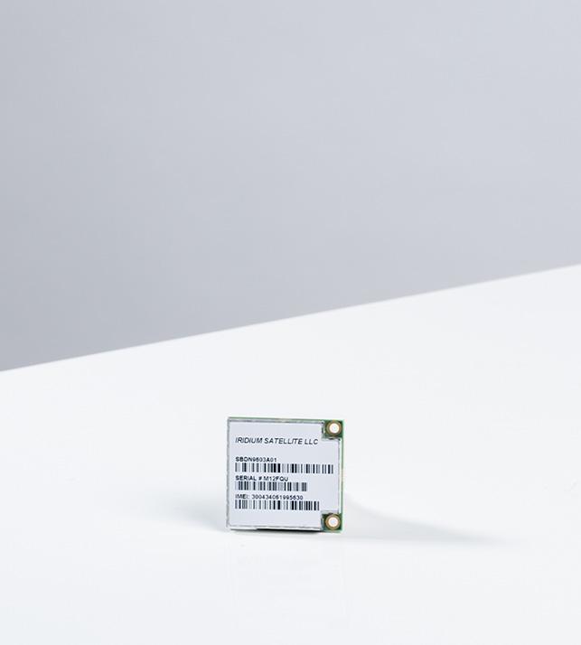 Iridium 9603 module studio photograph