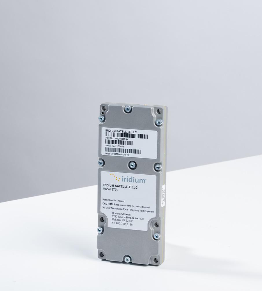 Iridium Certus 9770 module studio photograph