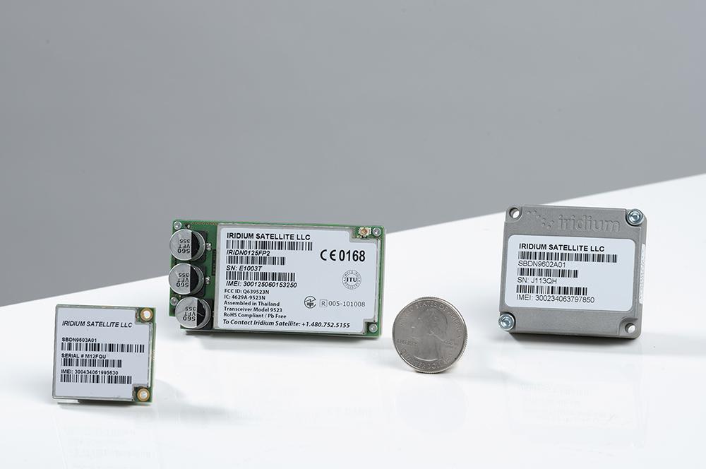 Iridium narrowband modules to scale