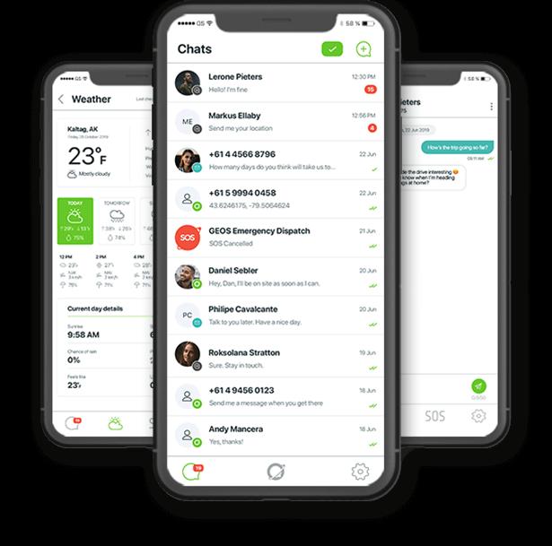 Zoleo Mobile App screenshots
