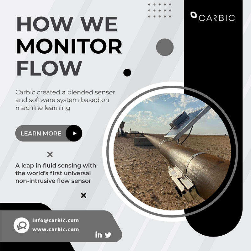 graphic depicting how Carbic Ultraflow monitors flow