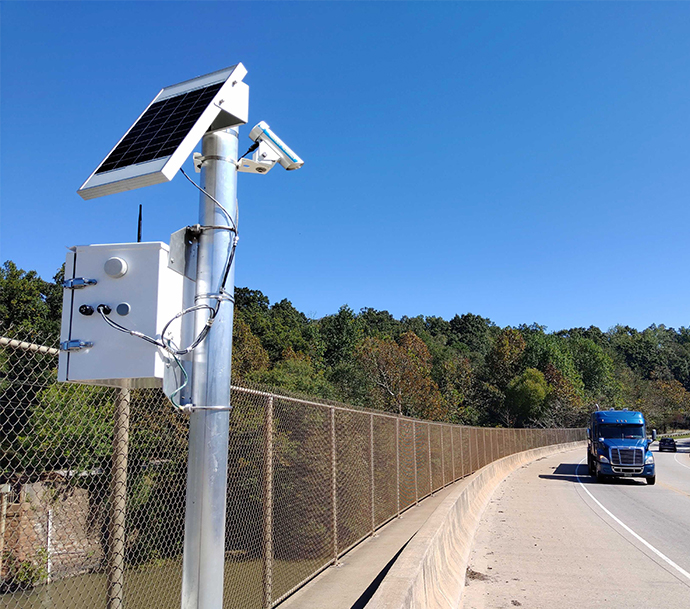 FTS CAWS Monitor in use by road