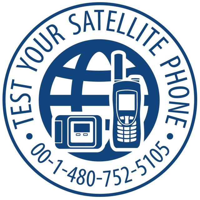 Iridium test your satellite phone icon